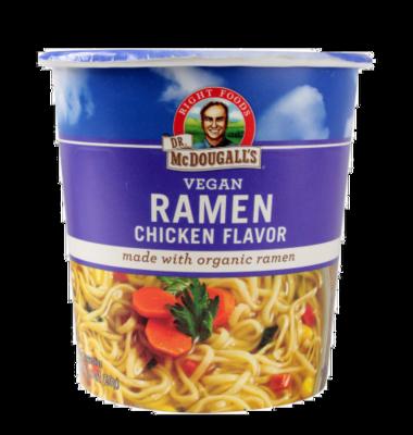 Soup, Dr. McDougall's® Vegan Chicken Ramen Soup (1.9 oz Cup)