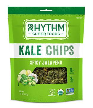 Kale Chips, Rhythm Superfoods® Spicy Jalapeño Kale Chips (2 ox Bag)