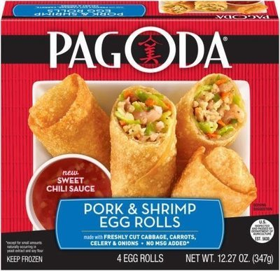 Frozen Egg Rolls, Pagoda Express® Pork & Shrimp Egg Rolls (12.27 oz Box)