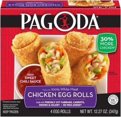 Frozen Egg Rolls, Pagoda Express® Chicken Egg Rolls (12.27 oz Box)