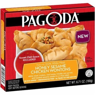 Frozen Wontons, Pagoda Express® Honey Sesame Chicken Wontons (6.71 oz Box)