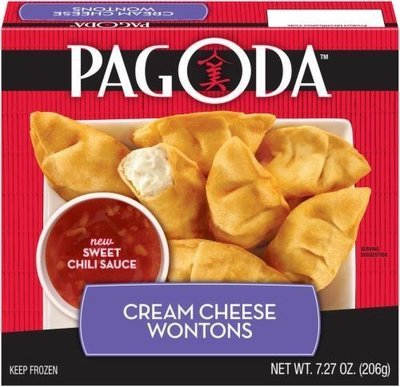 Frozen Wontons, Pagoda Express® Cream Cheese Wontons (7.27 oz Box)