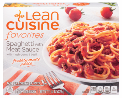 Frozen Dinner, Lean Cuisine® Favorites™ Spaghetti With Meat Sauce (11.5 oz Box)