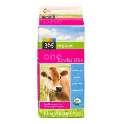 Dairy Milk, 365® Organic 1% Low Fat Milk (½ Gallon Carton)