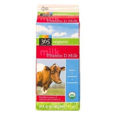 Dairy Milk, 365® Organic Whole Milk (½ Gallon Carton)