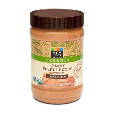 Organic Peanut Butter, 365® Organic Unsweetened Creamy Peanut Butter (28 oz Jar)