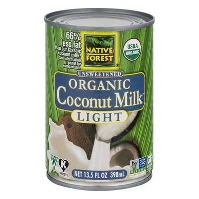 Coconut Milk, Native Forest® Organic Unsweetened Light Coconut Milk (13.5 oz Can)