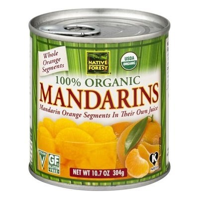 Canned Fruit, Native Forest® Organic Mandarin Oranges (10.7 oz Can)