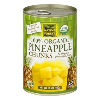 Canned Fruit, Native Forest® Organic Pineapple Chunks (14.0 oz Can)