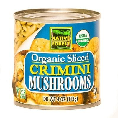 Canned Mushrooms, Native Forest® Organic Sliced Crimini Mushrooms (4.0 oz Can)