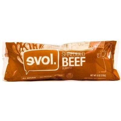 Frozen Burrito, Evol® Shredded Beef Burrito (6 oz Bag)