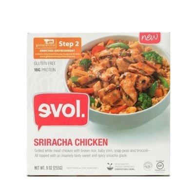 Frozen Meat, Evol® Sriracha Chicken Bowl (9 oz Box)