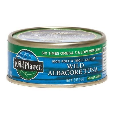 Canned Tuna, Wild Planet® No Salt Added Wild Albacore Tuna In Water (5 oz Can)