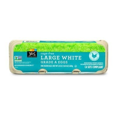 Eggs, 365® Cage Free Large White Grade A Eggs (12 Egg Carton)