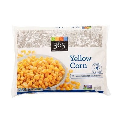 Frozen Corn, 365® Yellow Corn (16 oz Bag)