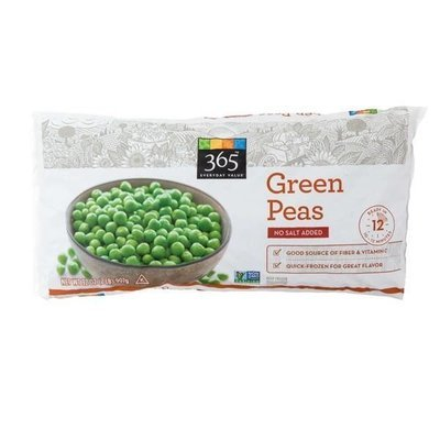 Frozen Peas, 365® No Salt Added Green Peas (32 oz Bag)