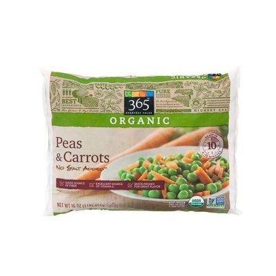 Frozen Peas and Carrots, 365® Organic No Salt Added Peas & Carrots (16  oz Bag)