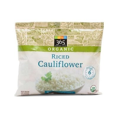 Frozen Cauliflower, 365® Organic Riced Cauliflower (12 oz Bag)