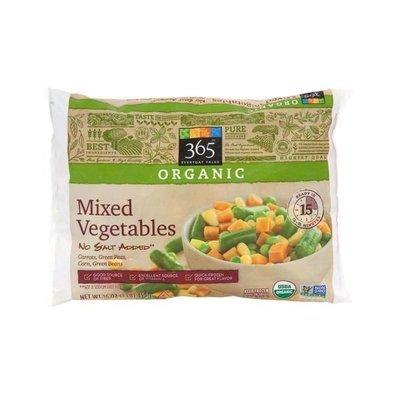 Frozen Vegetables, 365® Organic No Salt Added Mixed Vegetables (16 oz Bag)