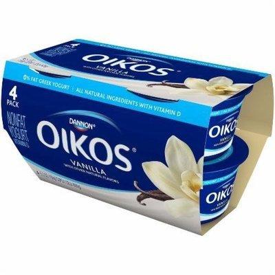 Yogurt, Dannon® Oikos® Non Fat Greek Vanilla Yogurt (4 Pack, 5.3 oz Cup)