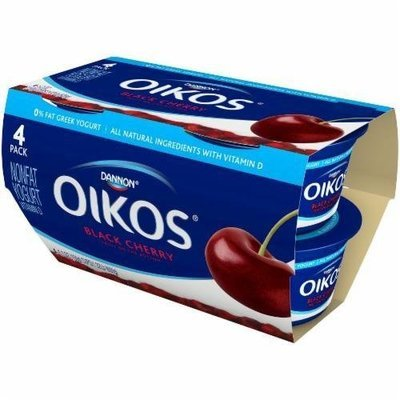 Yogurt, Dannon® Oikos® Non Fat Greek Black Cherry Yogurt (4 Pack, 5.3 oz Cup)