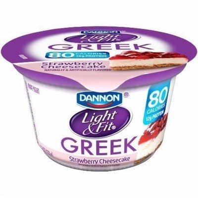 Yogurt, Dannon® Light & Fit® Greek Nonfat Strawberry Cheesecake Yogurt (5.3 oz Cup)