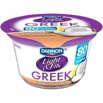 Yogurt, Dannon® Light & Fit® Greek Nonfat Toasted Coconut Vanilla Yogurt (5.3 oz Cup)