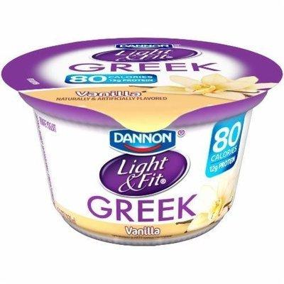 Yogurt, Dannon® Light & Fit® Greek Nonfat Vanilla Yogurt (5.3 oz Cup)