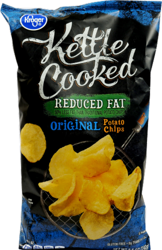 """Potato Chips, Kroger® """"Regular Size"""" Kettle Cooked Reduced Fat Potato Chips (8.5 oz Bag)"""