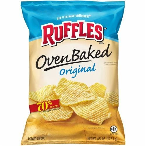 "Potato Chips, Ruffles® ""Regular Size"" Baked Original Potato Chips (6.25 oz Bag)"