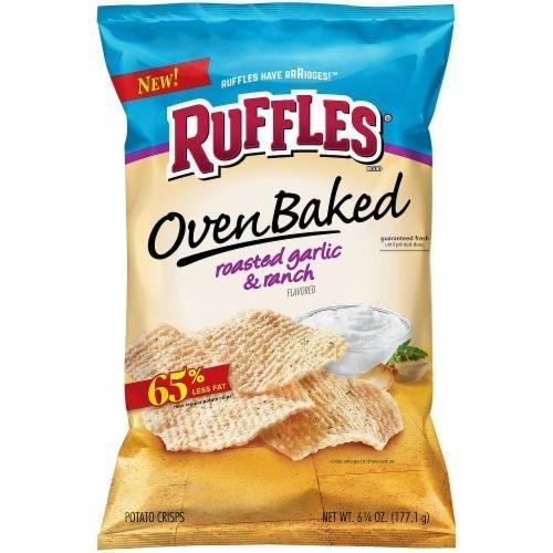 "Potato Chips, Ruffles® ""Regular Size"" Baked Garlic & Ranch Potato Chips (6.25 oz Bag)"