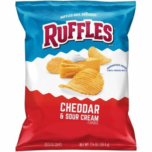 "Potato Chips, Ruffles® ""Lunch Size"" Cheddar & Sour Cream Potato Chips (2.63 oz Bag)"