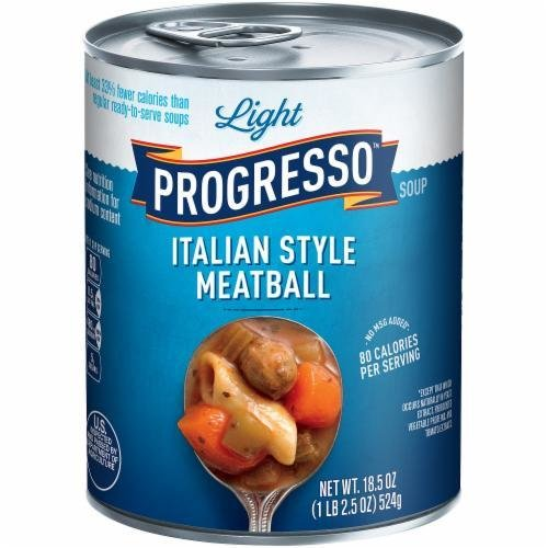 Canned Soup, Progresso® Light® Italian Style Meatball Soup (18.5 oz Can)