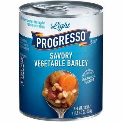 Canned Soup, Progresso® Light® Savory Vegetable Barley Soup (18.5 oz Can)