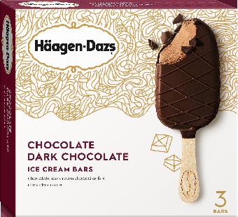Ice Cream Bars, Haagen-Dazs® Chocolate Dark Chocolate Ice Cream Bars (3 Per Box)