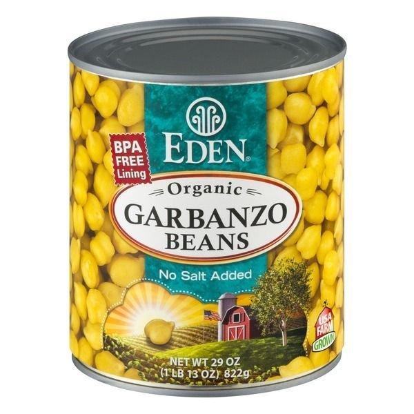 "Canned Garbanzo Beans, Eden Organic® Organic ""No Salt Added"" Garbanzo Beans (29 oz Can)"