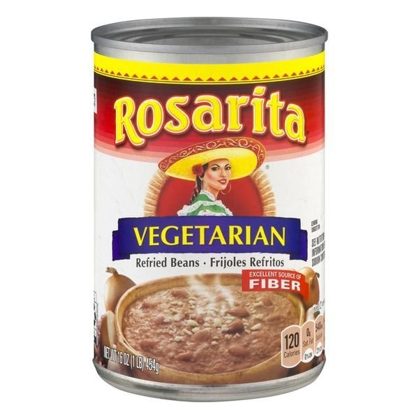 "Canned Refried Beans, Rosarita® ""Vegetarian"" Refried Pinto Beans (16 oz Can)"