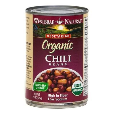 Canned Beans, Westbrae Natural® Organic Vegetarian Chili Beans (15 oz Can)