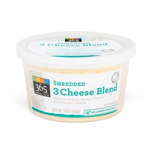 Shredded Cheese, 365® Shredded 3 Cheese Blend (5 oz Cup)