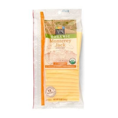 Cheese, 365® Organic Sliced Monterey Jack Cheese (12 oz Bag)