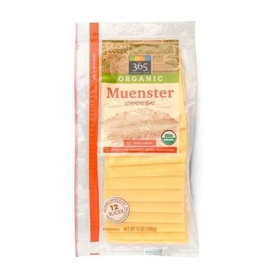 Cheese, 365® Organic Sliced Muenster Cheese (12 oz Bag)