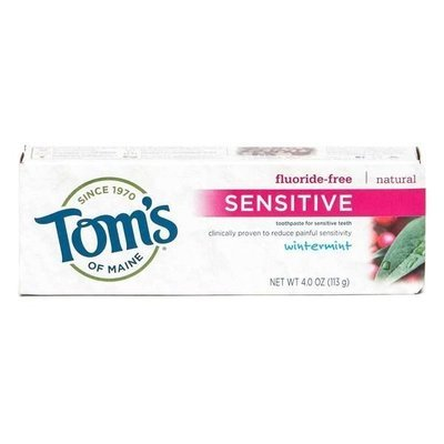 Toothpaste, Tom's of Maine® Fluoride-Free Sensitive Toothpaste (5.5 oz Box)