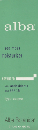"Moisturizer, Alba® ""Travel Size"" Sea Moss Advanced Moisturizer (2 oz Bottle)"