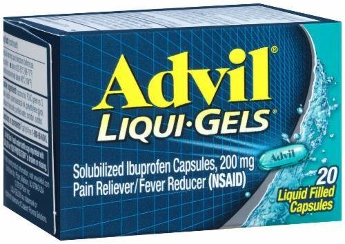 "Pain Killer, Advil® ""Ibuprofen"" Liqui-Gels (20 Count Box)"