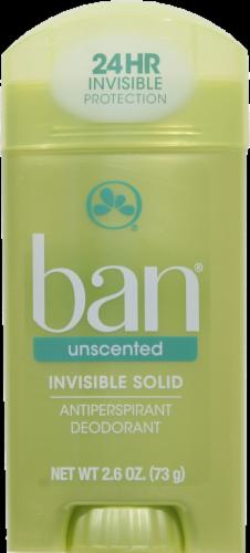 Deodorant, Ban® Unscented Deodorant (2.6 oz Stick)