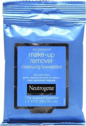 Makeup Remover, Neutrogena® Makeup Remover Face Wipes (7 Count Bag)