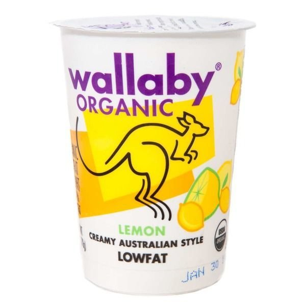 Yogurt, Wallaby Organic® Organic Lowfat Lemon Yogurt (6 oz Cup)