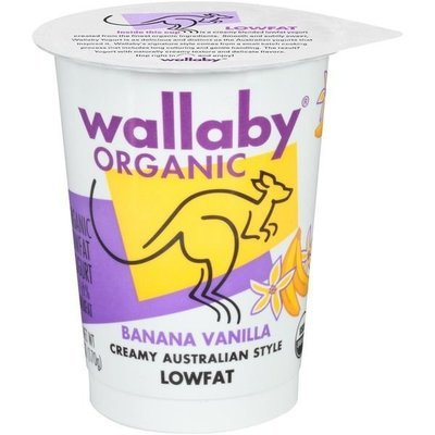 Yogurt, Wallaby Organic® Organic Lowfat Banana Vanilla Yogurt (6 oz Cup)