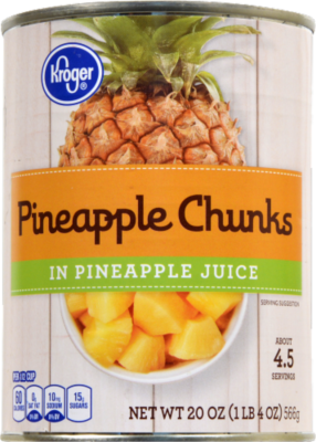 Canned Fruit, Kroger® Pineapple Chunks in Pineapple Juice (20 oz Can)