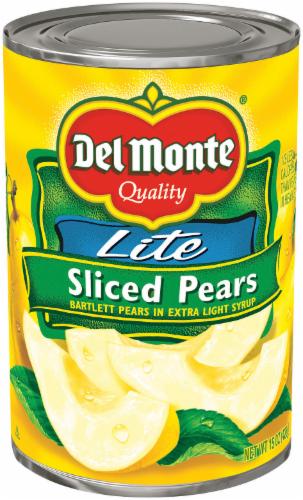 "Canned Fruit, Del Monte® ""Lite"" Sliced Bartlett Pears in Extra Light Syrup (15 oz Can)"